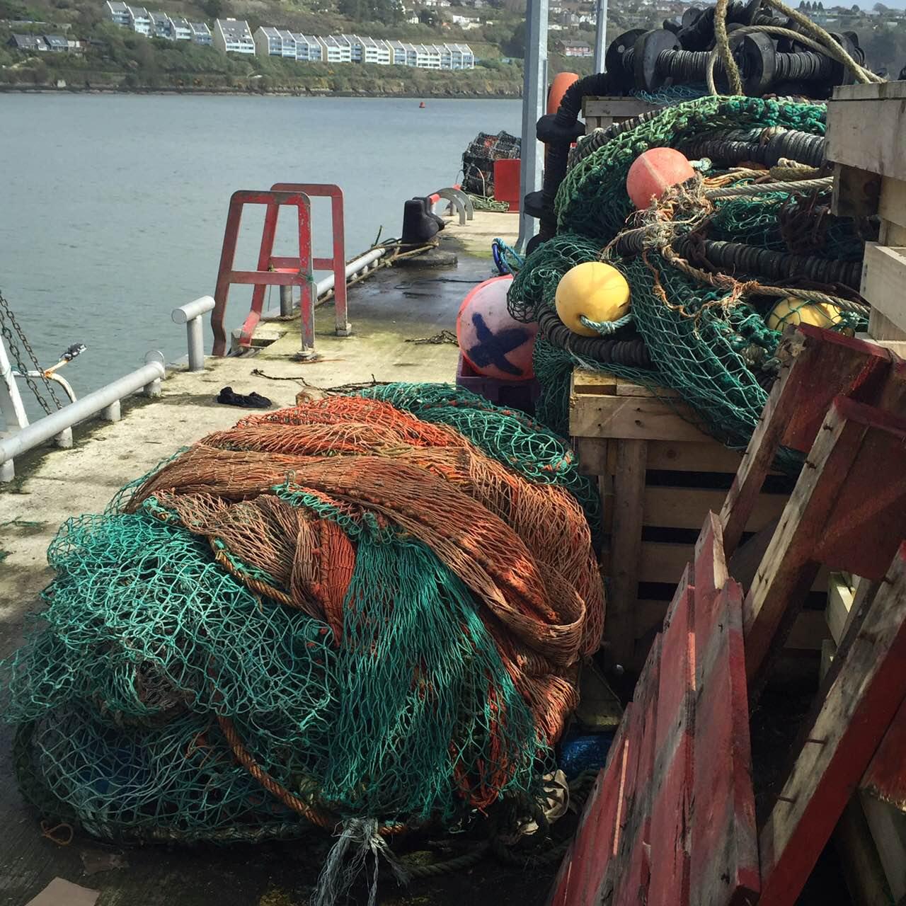 Fishing nets Ireland harbour